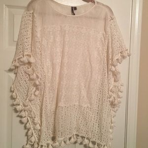 EUC New Direction Weekend fringe top cream large